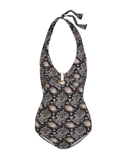 Melissa Odabash - Black Tampa Snake-print Swimsuit - Lyst