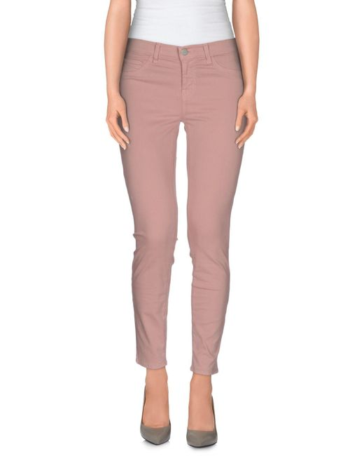 J Brand | Pink Casual Pants | Lyst