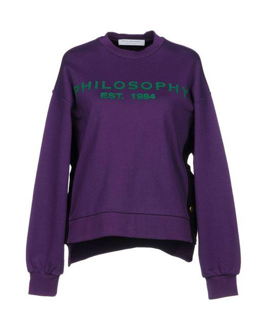 Philosophy Di Lorenzo Serafini - Purple Sweatshirt - Lyst