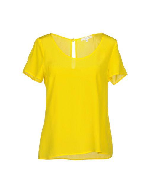 Patrizia Pepe - Yellow Blouse - Lyst