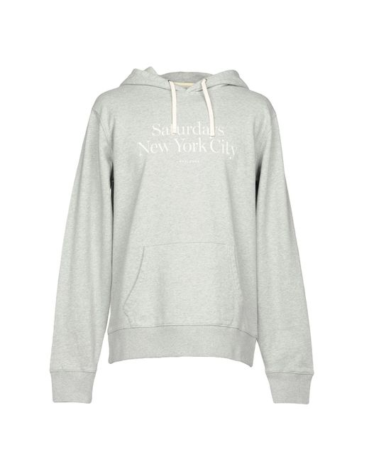 SATURDAYS NEW YORK CITY - Gray Sweatshirt for Men - Lyst