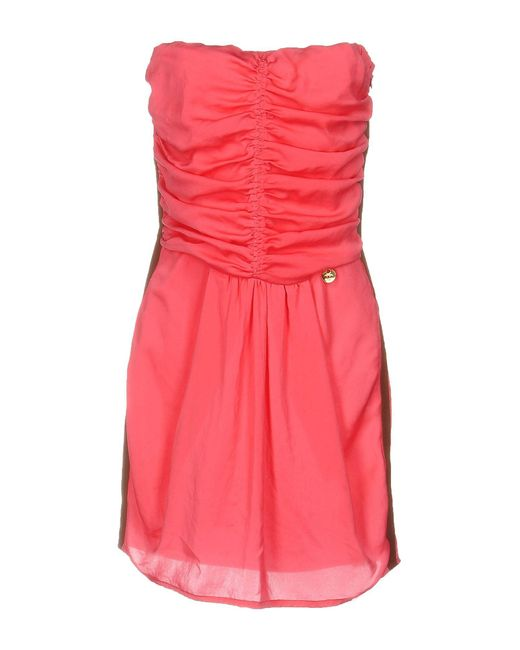 Met | Pink Short Dress | Lyst