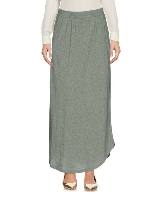 Ichi | Green 3/4 Length Skirt | Lyst