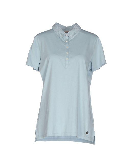 Napapijri - Blue Polo Shirts - Lyst