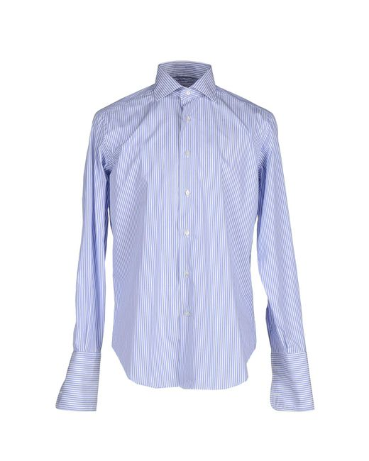 Caliban - Blue Shirts for Men - Lyst