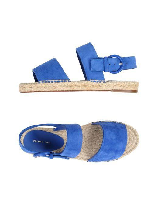 Céline - Blue Sandals - Lyst