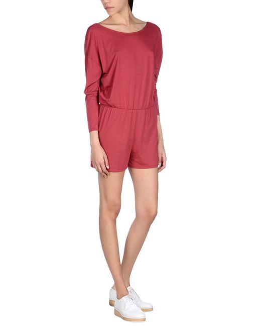 American Vintage - Red Jumpsuit - Lyst
