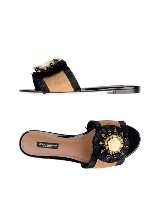 Dolce & Gabbana - Natural Sandals - Lyst
