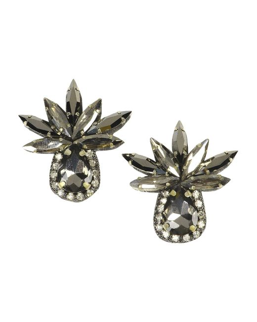 Deepa Gurnani - Gray Earrings - Lyst