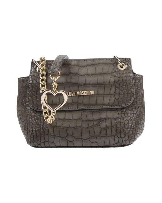 Love Moschino - Gray Cross-body Bag - Lyst