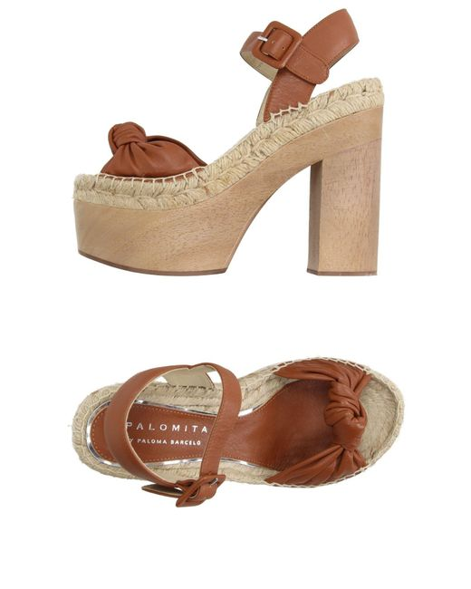 Palomitas By Paloma Barcelo' - Brown Espadrilles - Lyst
