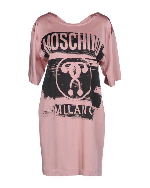 Moschino - Pink Short Dresses - Lyst