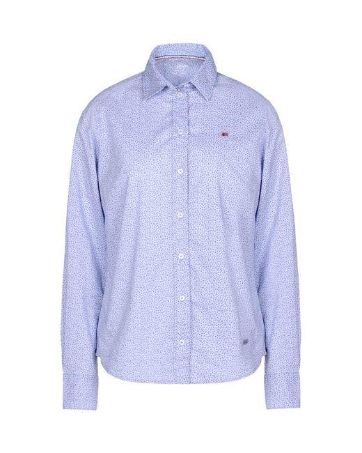 Napapijri - Blue Shirt - Lyst