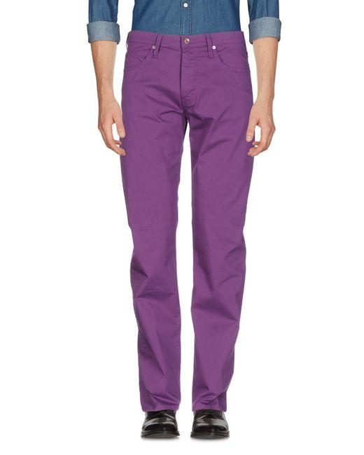 Armani Jeans | Purple Casual Pants for Men | Lyst