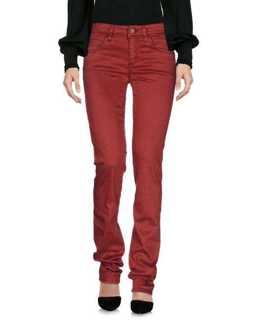 Liu Jo - Red Casual Pants - Lyst