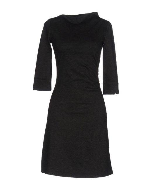 Armani Jeans - Gray Short Dress - Lyst