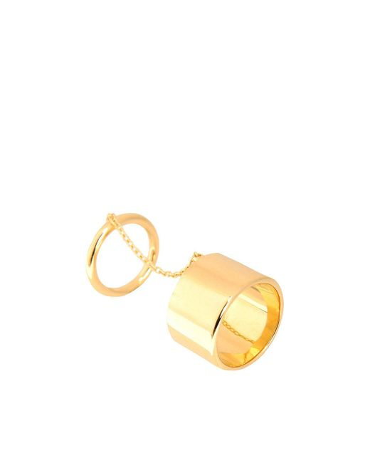 Elizabeth and James - Metallic Ring - Lyst
