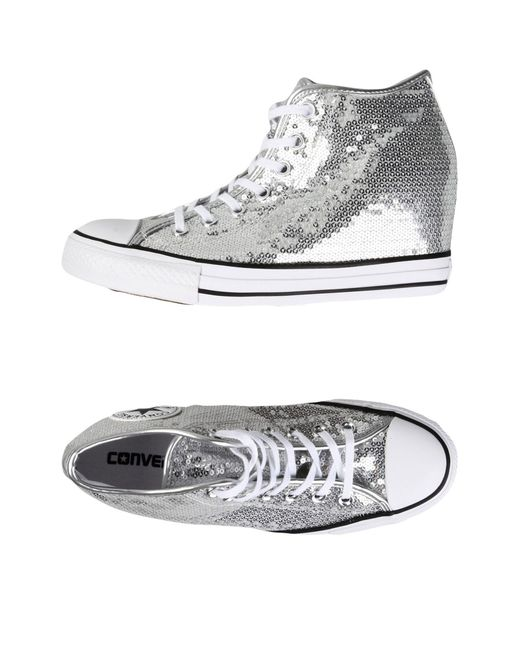 Converse - Metallic High-tops & Sneakers - Lyst