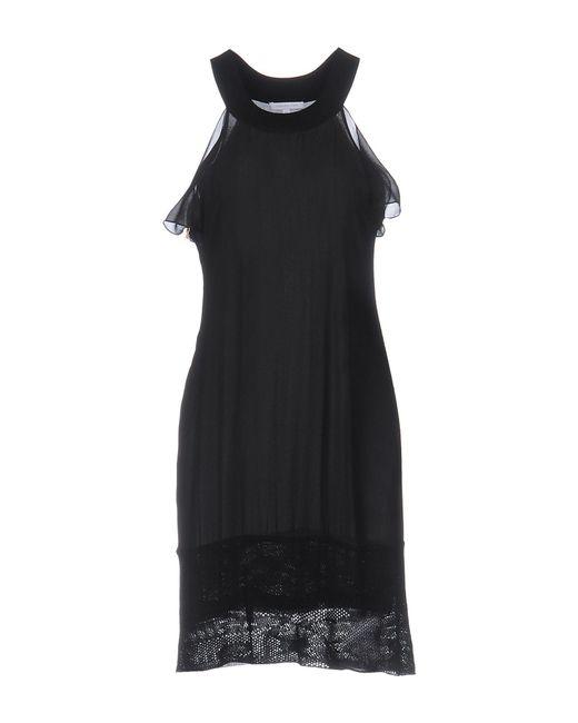 Patrizia Pepe - Black Short Dress - Lyst
