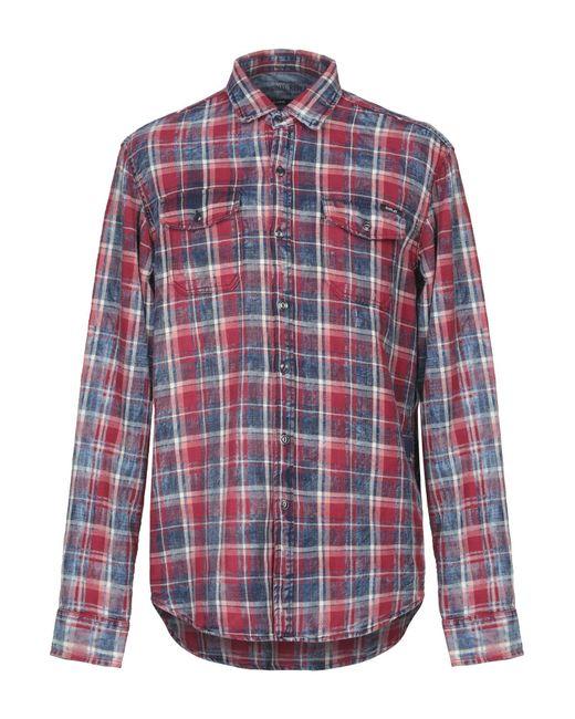 458b64c7 Replay - Red Shirt for Men - Lyst ...