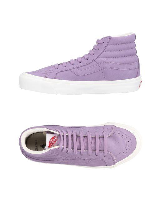 Vans - Purple High-tops & Sneakers - Lyst