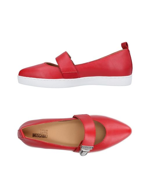 Love Moschino - Red Ballet Flats - Lyst