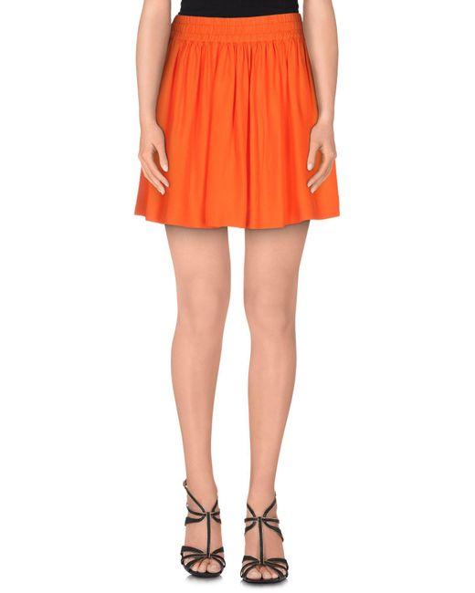 RED Valentino - Orange Mini Skirts - Lyst