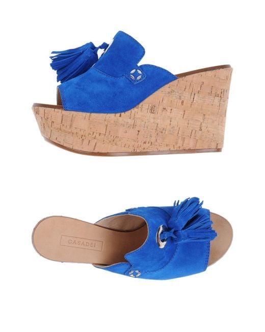 Casadei | Blue Sandals | Lyst