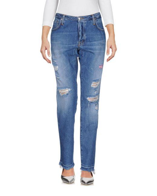 People - Blue Denim Pants - Lyst