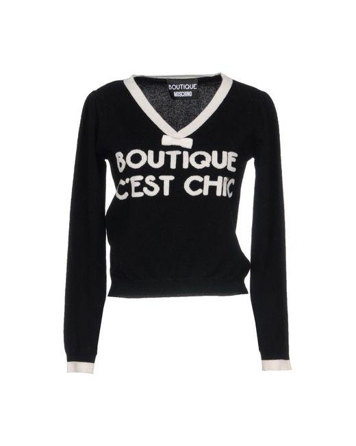 Boutique Moschino - Black Jumper - Lyst