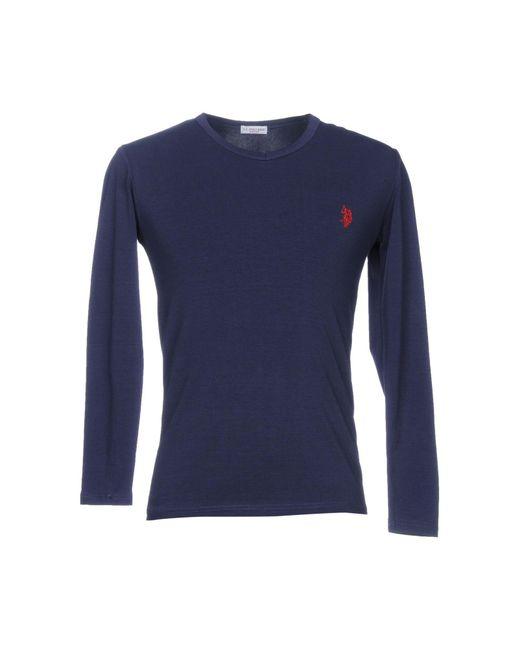 U.S. POLO ASSN. - Blue T-shirt for Men - Lyst