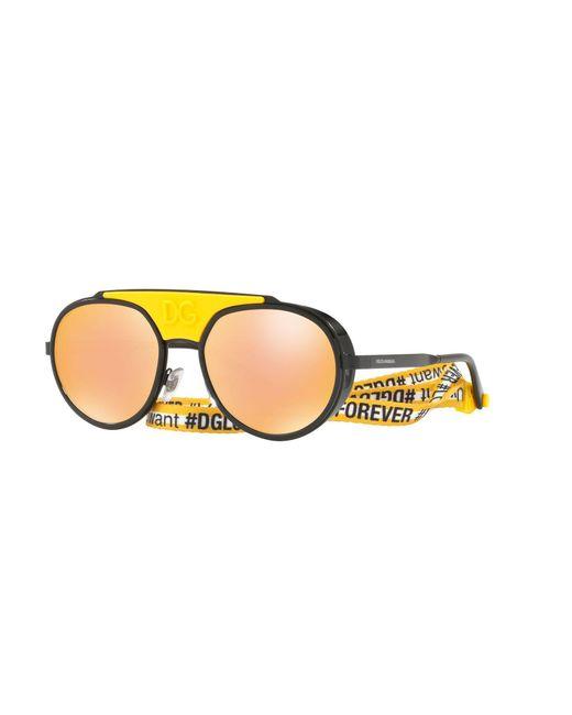 c0901236ed Gafas de sol Dolce & Gabbana de hombre de color Amarillo - Lyst