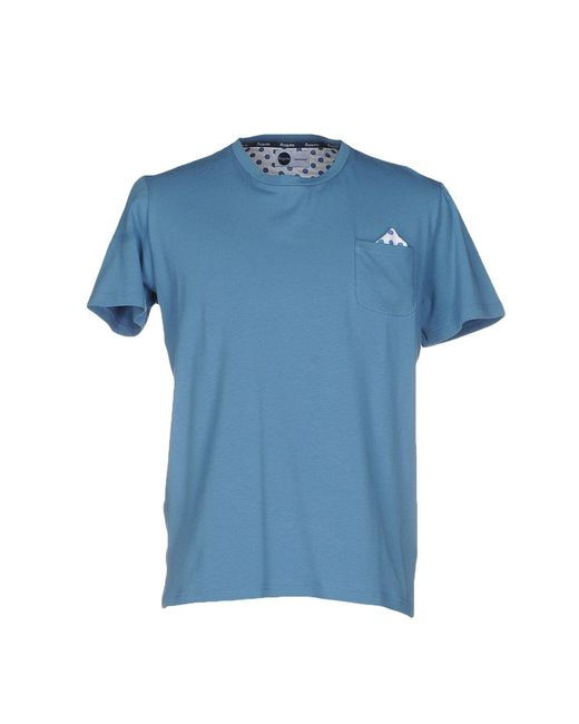 Bagutta - Blue T-shirt for Men - Lyst