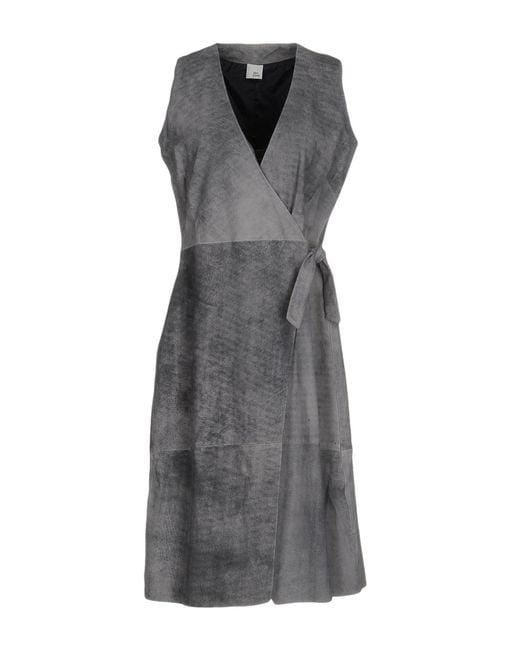 Iris & Ink - Gray Knee-length Dress - Lyst