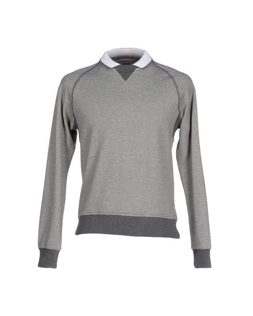 Eleventy Gray Sweatshirt for men