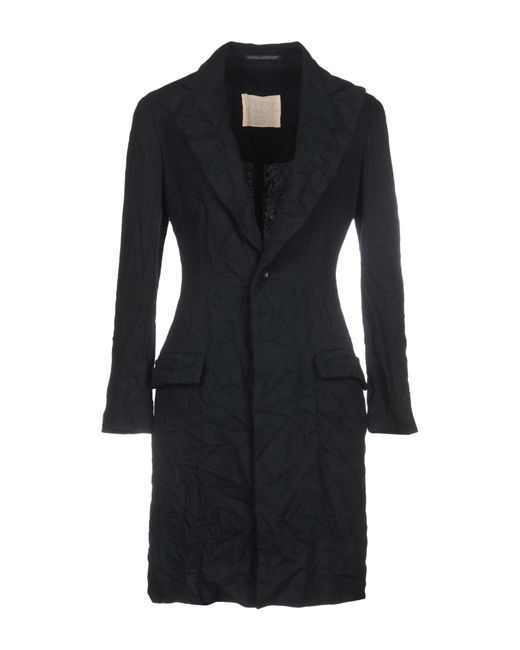 Yohji Yamamoto - Blue Overcoat - Lyst