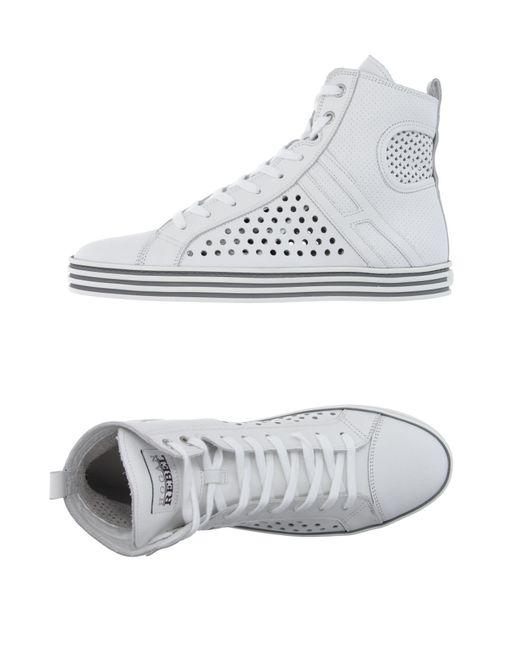 Hogan Rebel - White High-tops & Sneakers - Lyst