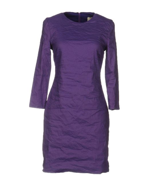 Nicole Miller Artelier | Purple Short Dress | Lyst