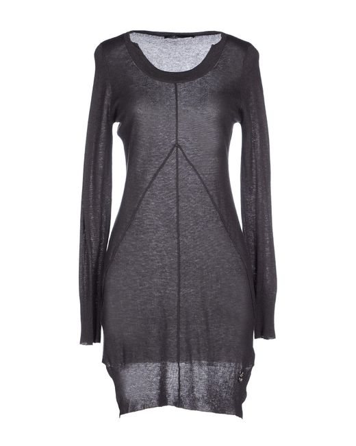 GAUDI - Gray Short Dress - Lyst