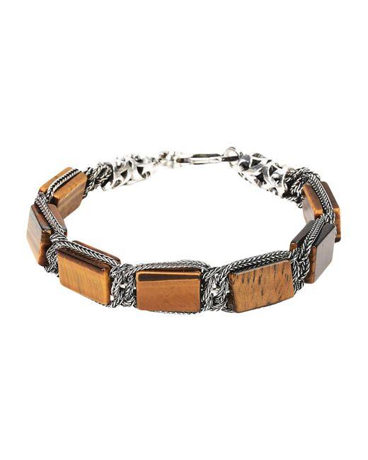 Emanuele Bicocchi - Brown Bracelet for Men - Lyst