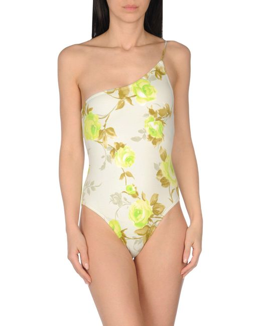 GUILLERMINA BAEZA - Green One-piece Swimsuit - Lyst