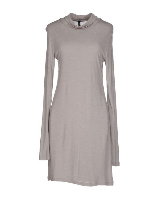 Pianurastudio | Gray Short Dress | Lyst