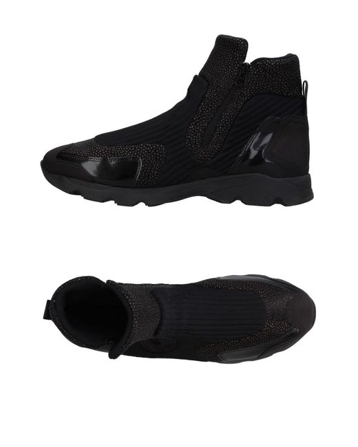 MM6 by Maison Martin Margiela - Black High-tops & Sneakers for Men - Lyst