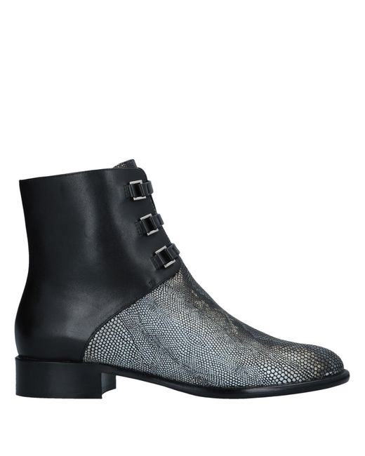 Emporio Armani - Black Ankle Boots - Lyst