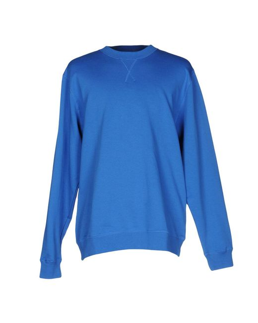 Sunspel - Blue Sweatshirt for Men - Lyst