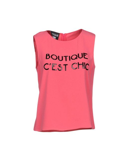 Boutique Moschino - Pink Tops - Lyst