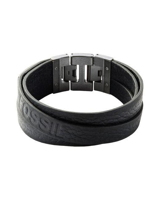 Fossil - Black Bracelets - Lyst