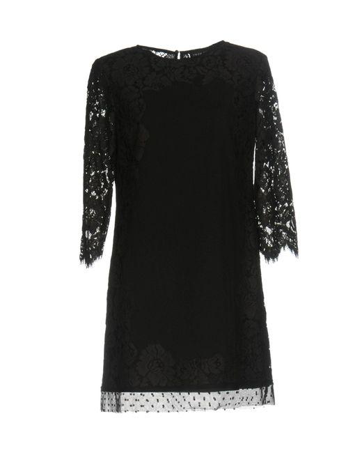 Twin Set - Black Short Dress - Lyst