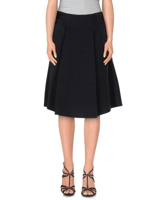 Space Style Concept - Black Knee Length Skirt - Lyst