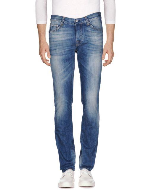 Care Label - Blue Denim Trousers for Men - Lyst